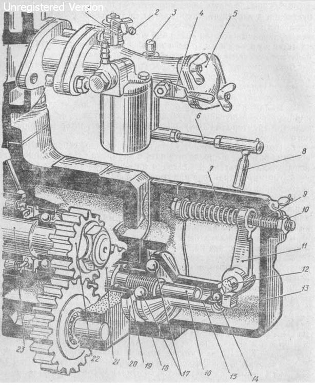 21) пускового двигателя ПД-10У